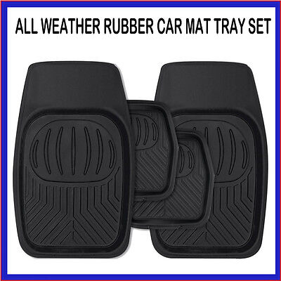 FIAT 500 ABARTH ALL WEATHER RUBBER CAR MAT TRAY SET