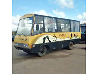 Left hand drive Toyota Dyna 300, 20 seats bus. Manual injector pump.