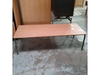 Large beech effect reception table
