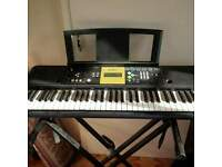 yamaha electric keyboard and stand