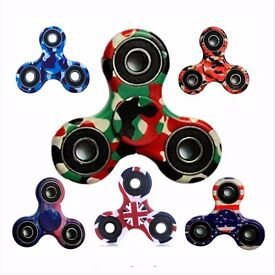 Wholesale Joblots Kids Tri-Spinner Fidget Ceramic EDC Hand Finger Spinners Desk Focus Stress Toy
