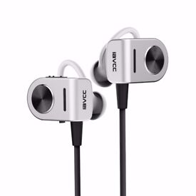Bluetooth Headphones, IAVCC V4.1 Wireless Earphones with Comfortable Earbuds, Mic, CVC 6.0 and APT
