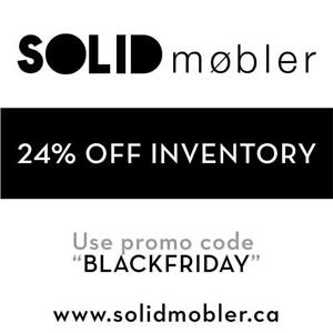 BLACK FRIDAY SALE - TODAY ONLY 24% OFF ALL MIDCENTURY & DANISH MODERN FURNITURE