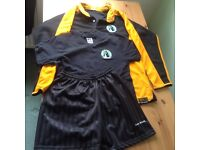 Lees Brook School rugby top, black PE t-shirt & black shorts - used but in vgc