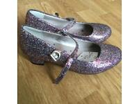 Girls glitter shoes size 2