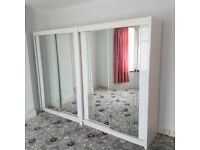 💥💯BIGGEST SALE 2020 ON 2/3 DOORS SLIDING WARDROBE WITH FULL MIRRORS ALL SHELVES & RAILS INCLUDED