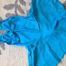 Dance leotards with skirt for sale -purple and turquiose