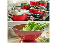 5 piece pan set with free Colander
