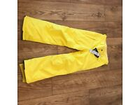 Bright Yellow O Neill salopettes never been worn size 152
