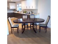 Dining Table (extending) and 4 Chairs