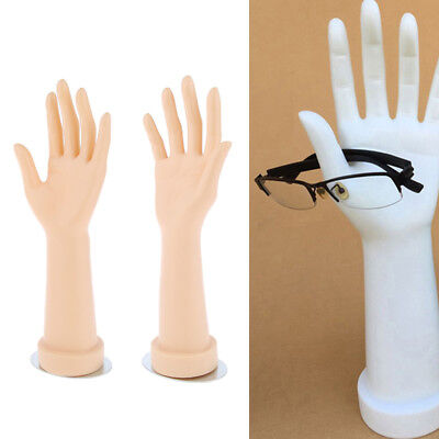 1 Pair Hand Mannequin Arm Display Base Gloves Jewelry Model Right Left Nude