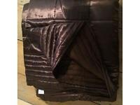 Next Chocolate Brown Satin Throw 240cm x 260cm