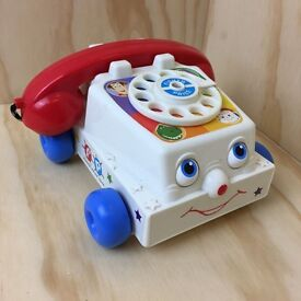 Disney Pixar Toy Story Talking Chatter Phone Push Along Toy - Fisher Price