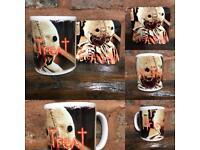 "Trick r Treat ""Sam"" mug and coaster set"