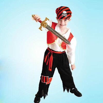 Fashion Boy Halloween Little Pirate Fancy Dress Book Week Costume Outfits ()