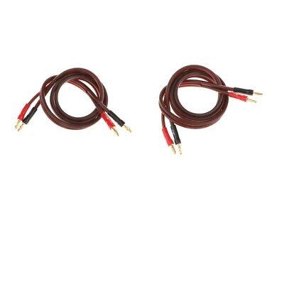 1M / 3.3ft Audiokabel Bananenstecker für Heimlautsprecher und HiFi (1 Ft-audio-kabel)
