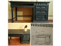 Vintage dark blue desk good condition