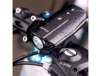 Rechargeable Bike Front Light 1200mAh Lithium Battery Cycling Headlight Waterproof
