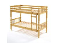 Brand new solid pine bunk bed, with quilted mattresses FREE DELIVERY