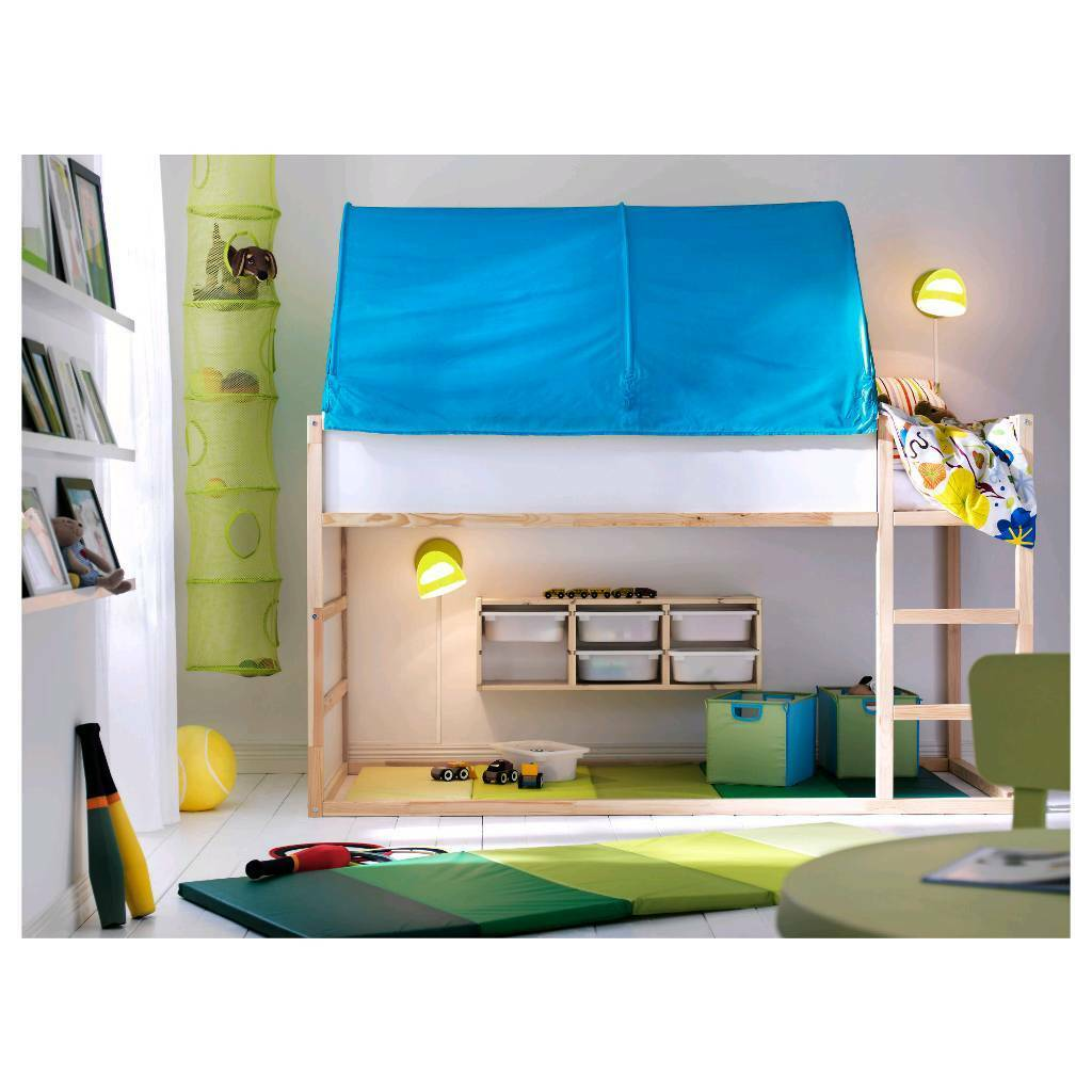Ikea Kura blue bed tent