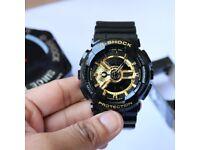 Casio G-Shock Black Gold Unisex 100 % TOP Quality GA-110GB