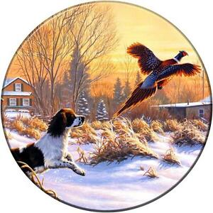 spare wheel cover sticker hunting shooting dog off road 4x4 land rover rav jeep. Black Bedroom Furniture Sets. Home Design Ideas