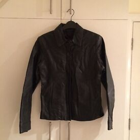 Thick Black Leather, Ladies Jacket size 8-10