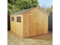 Large timber/ workshop Apex roof 12x8 Brand new from £1099.99
