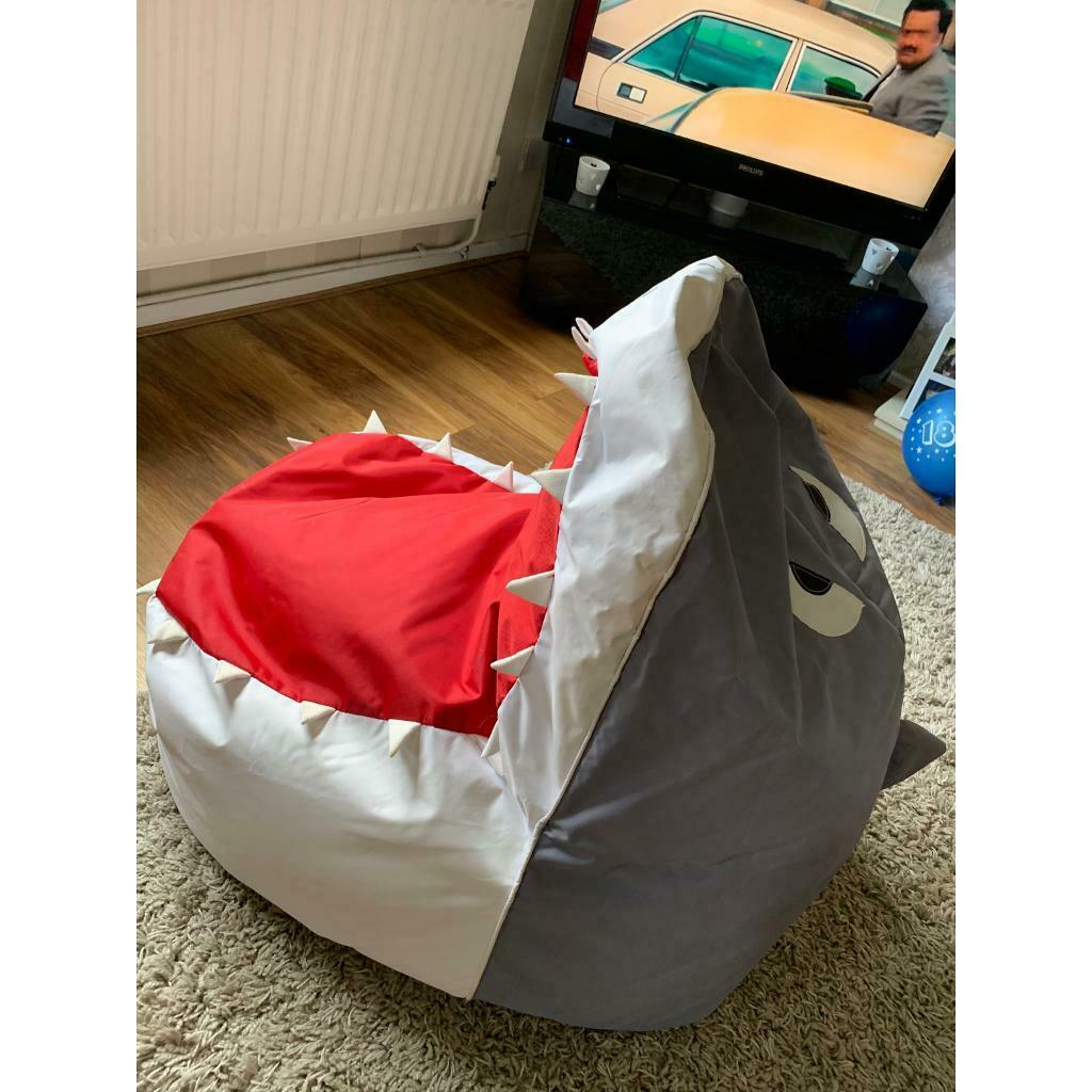 Pleasing Large Shark Bean Bag Chair In Leicester Leicestershire Gumtree Bralicious Painted Fabric Chair Ideas Braliciousco