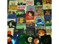 Roughly 30 vinyl singles £12 for all