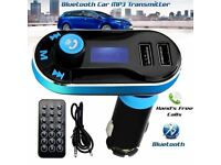 5-in1 Bluetooth Car FM Transmitter Wireless Radio Adapter USB Charge -Mp3-Player