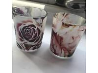 2 brand new candle holders