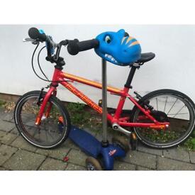 "Isla kids bike 16"" and mini micro scooter"