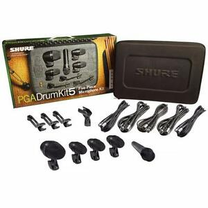 New Shure PGADRUMKIT5 Drum Microphone Kit