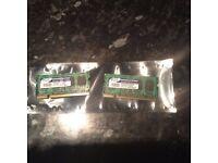 DDR2 laptop memory 2 GIG 2 x 1 gig sticks of AData DDR2 laptop memory SODIMS