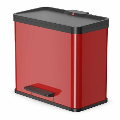 Hailo Pedal Bin Rubbish Waste Dust Bin Oko Duo Plus Size L 17 L+9 L Red 0630-240