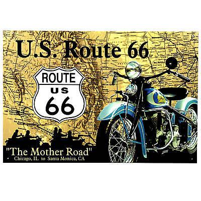 Poster Garage Deko Oldtimer USA motorradreisen amerika Schild *249