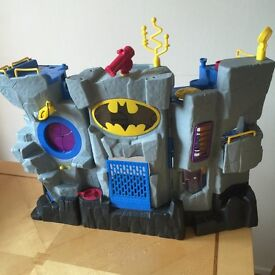 IMAGINEX BATCAVE, GOTHAM JAIL, HELICOPTER AND VARIOUS CHARACTERS