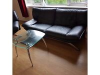 3 SEATER, CHAIR & TABLE £50 ono