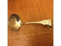 Lovely Antique German Silver Plated Sauce Spoon
