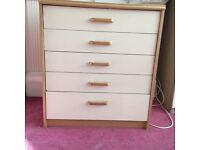 Bedroom chest of drawers , drawers slide easily , was originally flat packed
