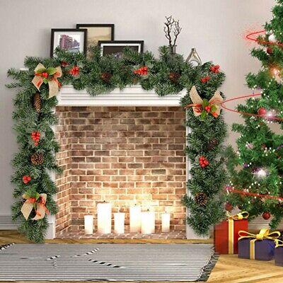 Christmas Fireplace Garland (2M Christmas Garland  Decorations Xmas Fireplace Pine)