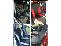 LEATHER CAR SEAT COVERS FOR TOYOTA PRIUS VAUXHALL ZAFIRA VOLKSWAGEN SHARAN SEAT ALHAMBRA PEUGEOT 508
