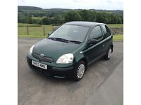 2003 53Toyota Yaris 1.0 just been MOTD expires 24/08/17 drives good ready to drive away