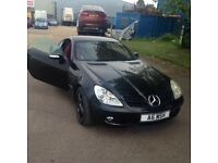 Mercedes convertible SLK AMG with private plate