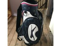 Slazenger Leather Cart Golf Bag