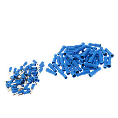 100pcs Heat Shrink Wire Connector Kit Marine Automotive Terminal Blue