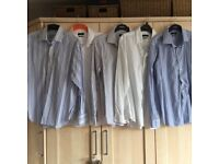 Five Next branded formal work shirts all 17 inch collars