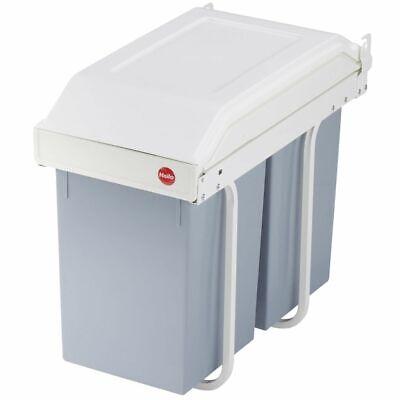 Hailo Cupboard Bin Rubbish Waste Bin Multi-Box Duo Size L 2x14 L Cream 3659-001