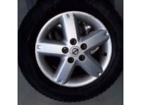 """nisan xtrail 16"""" alloy wheel and tyre winter tyre"""
